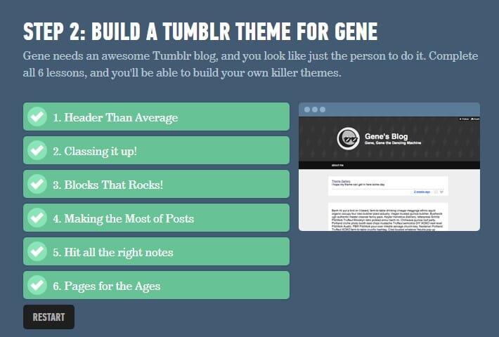 Proyek Ketiga mengerjakan custom tumblr theme