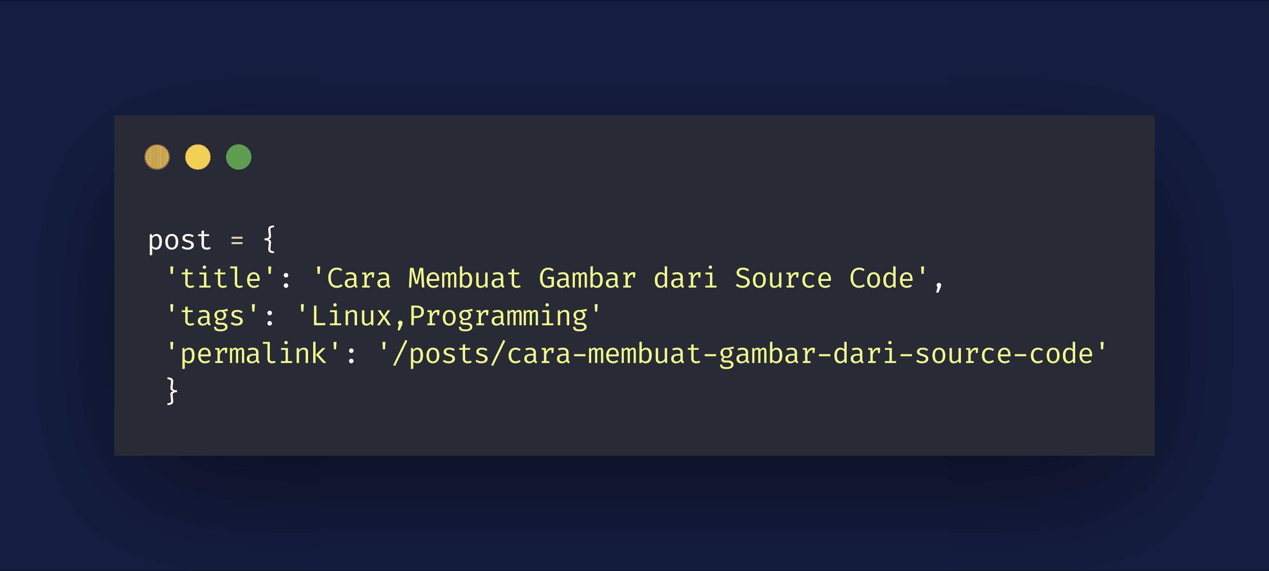 Source code dari gambar