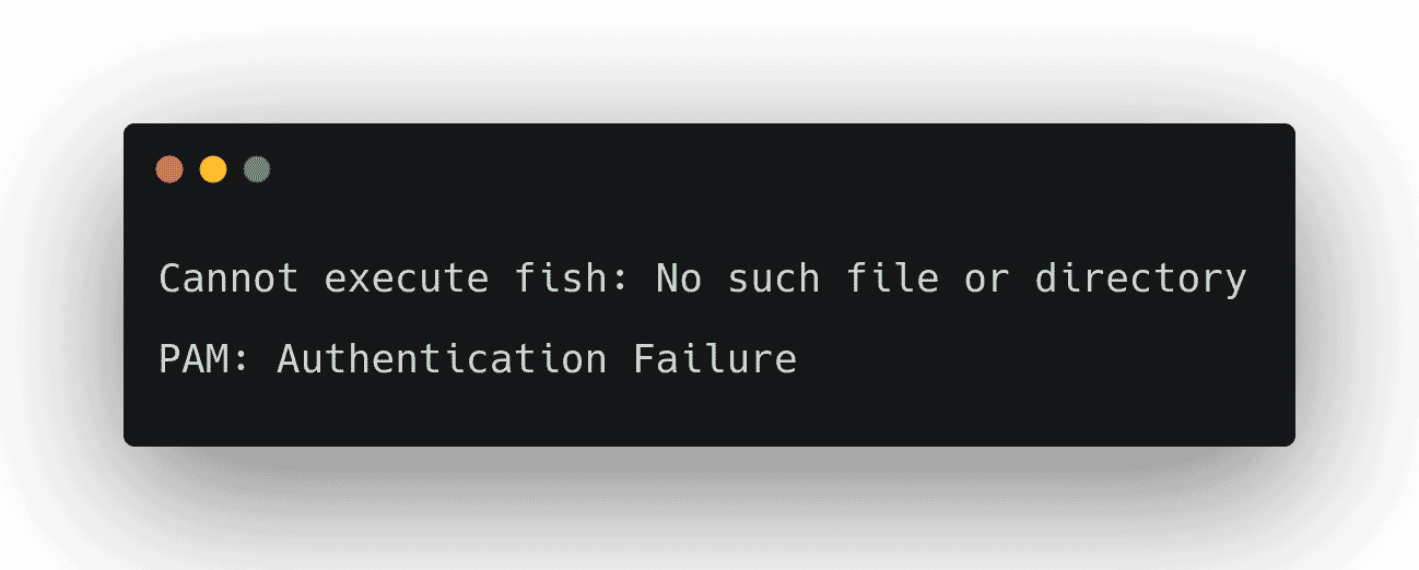 PAM: Authentication Failure